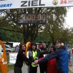 Zieleinlauf 2008 24-Stunden-Lauf als Team in Bernau 2008