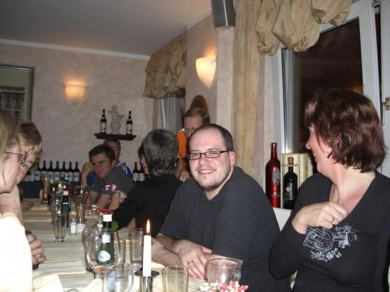 Am Vorabend beim Italiener