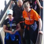 Auf der Rolltreppe, gelaufen sind wir genug :-)