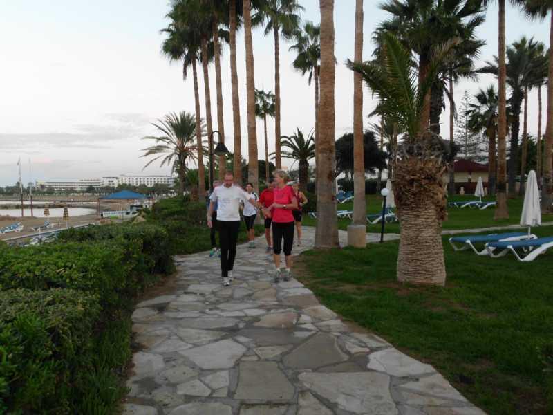 Morgenlauf am Strand
