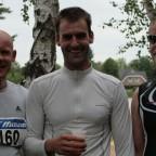 Björn, Marató und TomRun direkt nach dem Finish