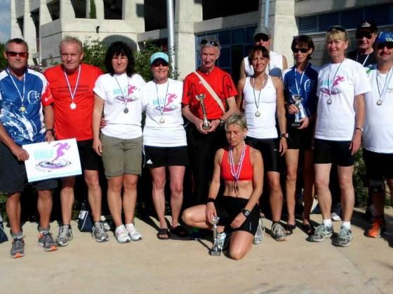 Gruppenfoto nach dem Lauf