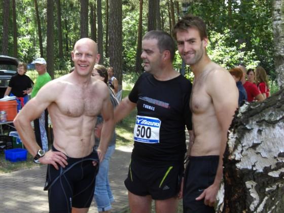 Björn (Rad). TomRun - mit verdecktem Sixpack (Lauf) und Marató (Schwimmen)