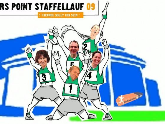 Radiergummistaffel beim Staffellauf auf Schalke
